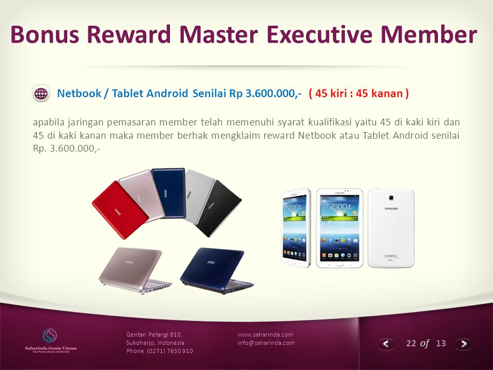 Bonus Reward Master Executive Member