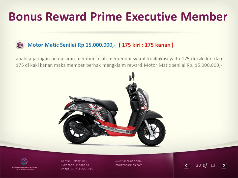 Bonus Reward Prime Executive Member