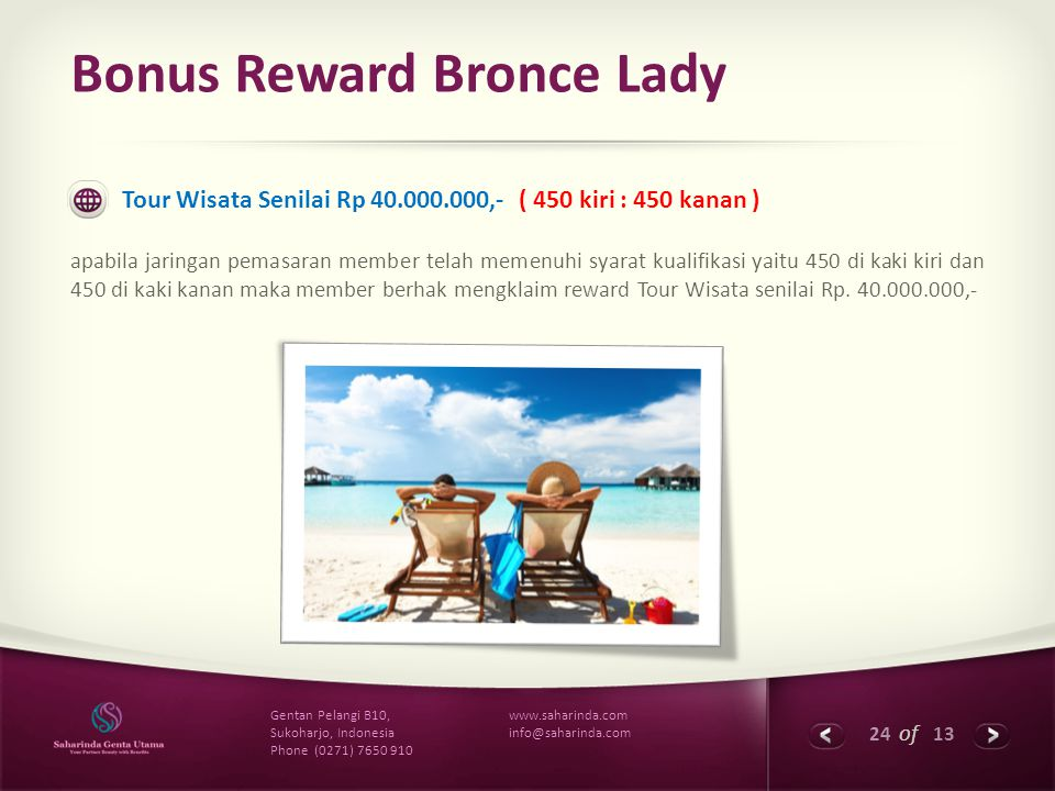 Bonus Reward Bronce Lady