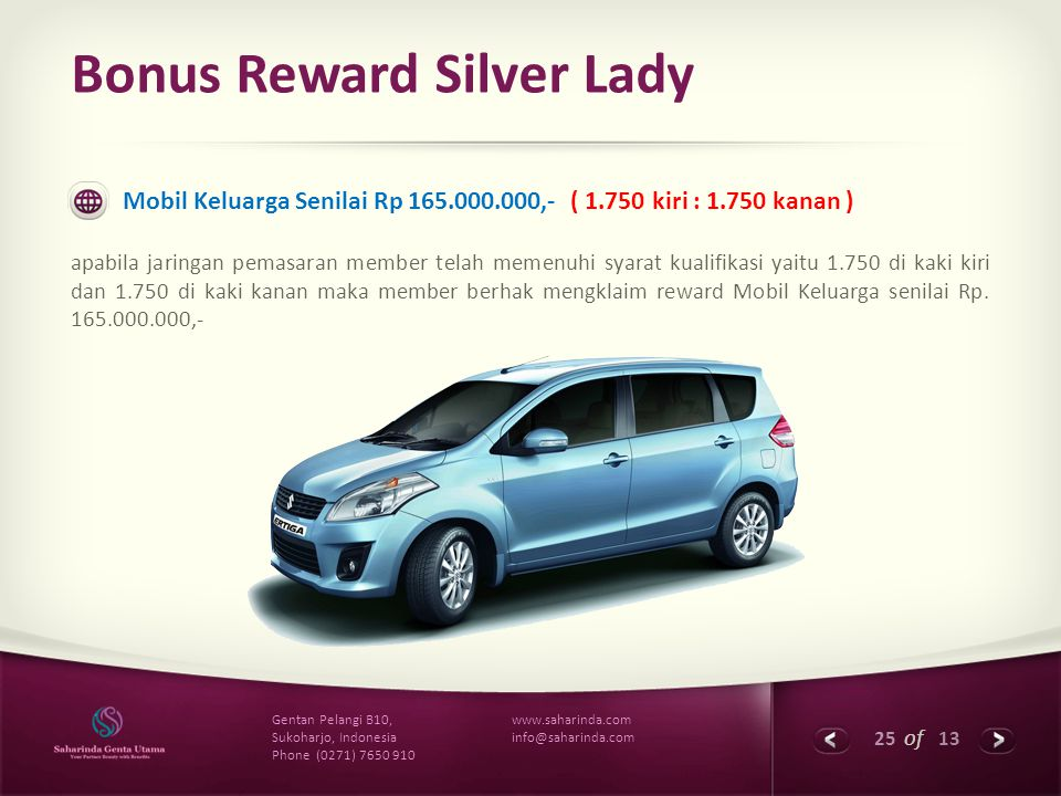 Bonus Reward Silver Lady