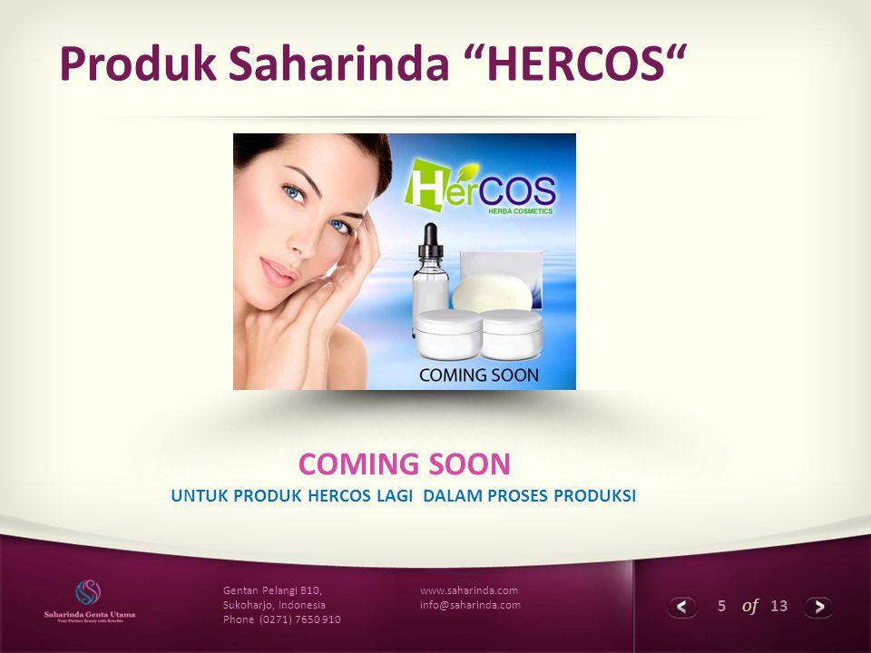 Produk Saharinda HERCOS