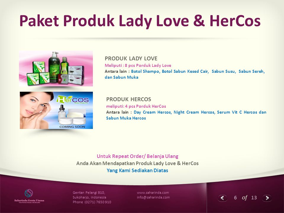 Paket Produk Lady Love & HerCos