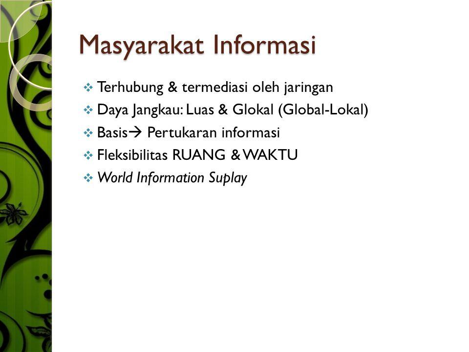 Masyarakat Informasi Terhubung & termediasi oleh jaringan