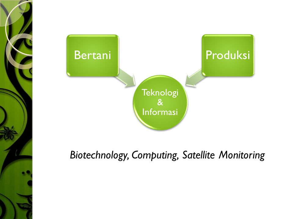 Biotechnology, Computing, Satellite Monitoring