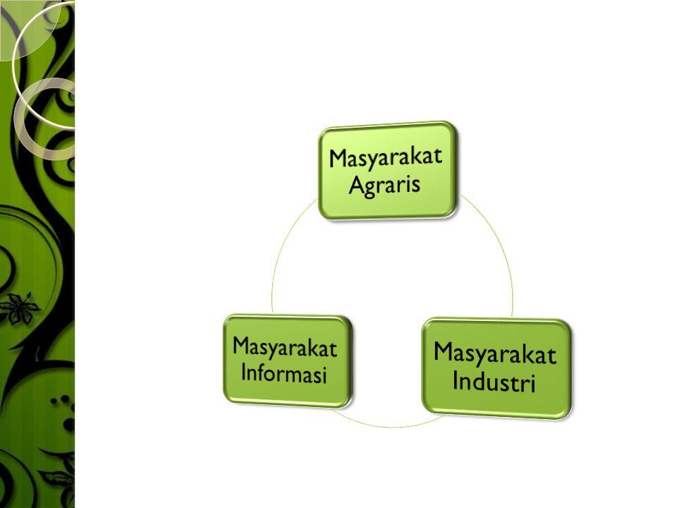 Masyarakat Agraris Masyarakat Industri Masyarakat Informasi