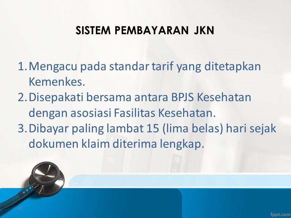 Mengacu pada standar tarif yang ditetapkan Kemenkes.