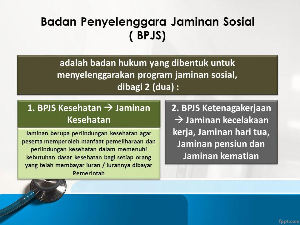 Badan Penyelenggara Jaminan Sosial ( BPJS)