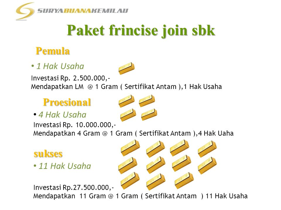 Paket frincise join sbk