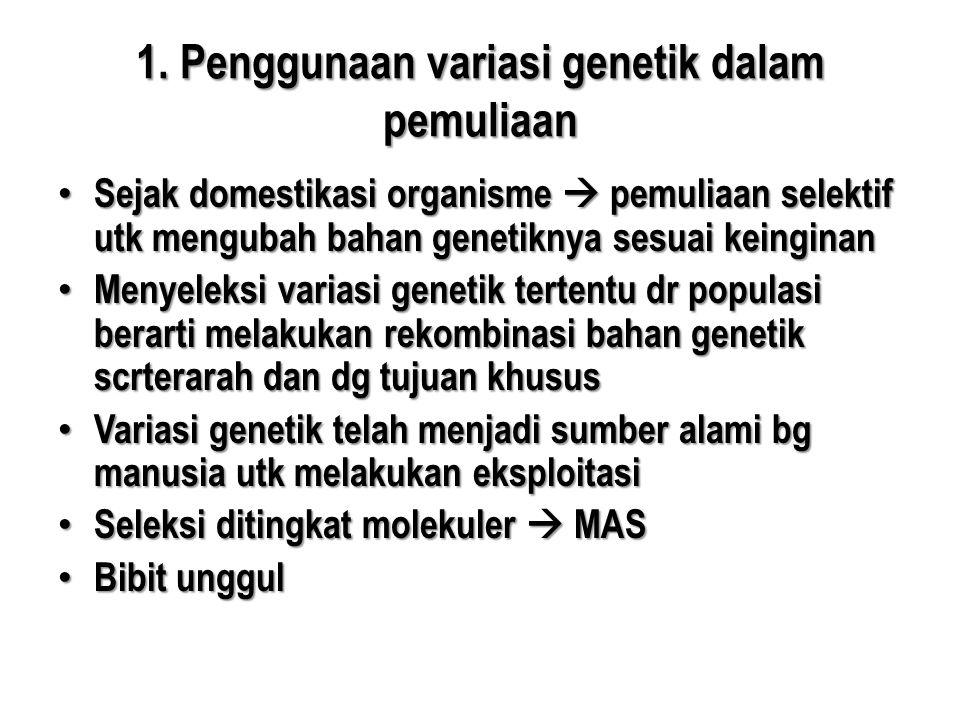 1. Penggunaan variasi genetik dalam pemuliaan