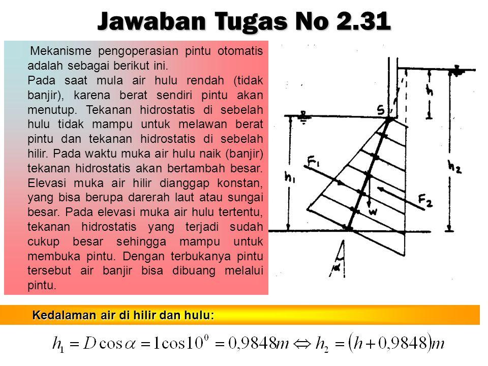 Jawaban Tugas No 2.31 Mekanisme pengoperasian pintu otomatis adalah sebagai berikut ini.