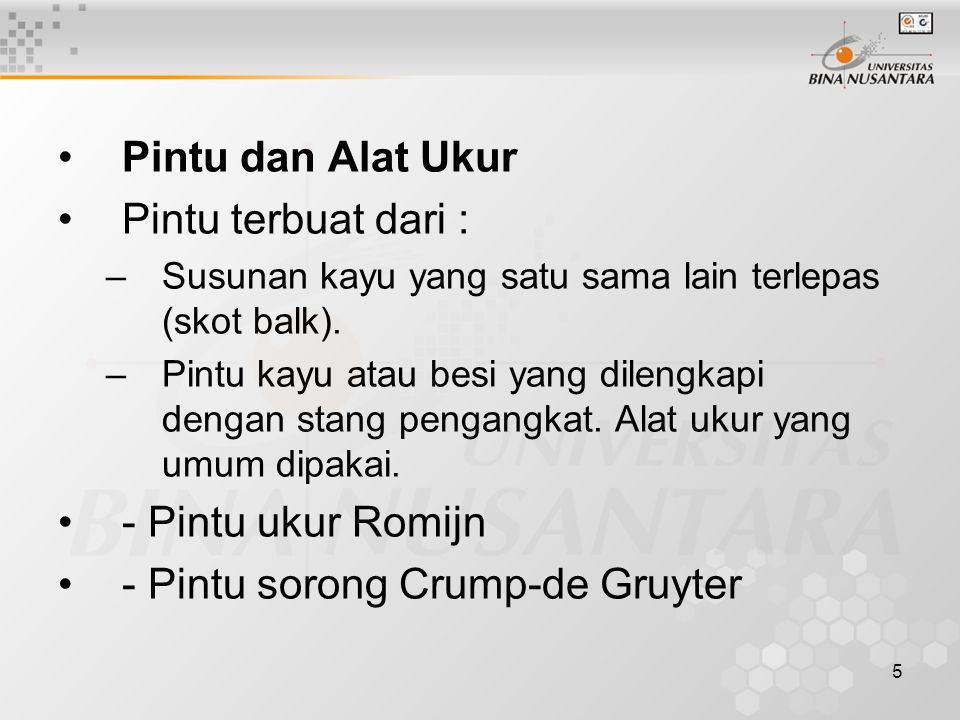 - Pintu sorong Crump-de Gruyter