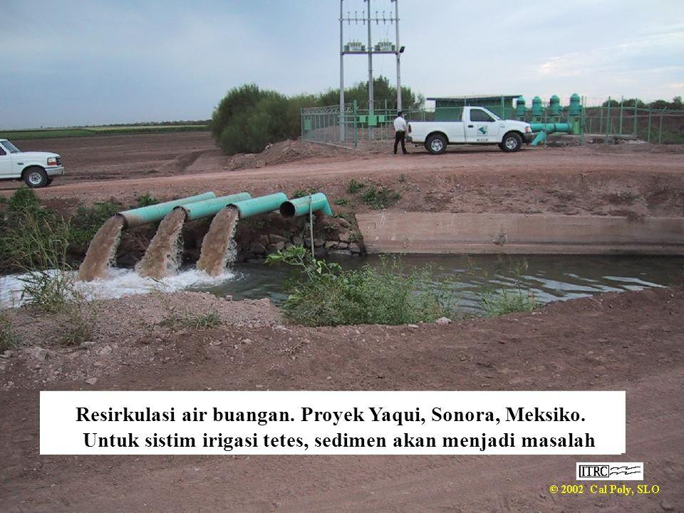 Resirkulasi air buangan. Proyek Yaqui, Sonora, Meksiko