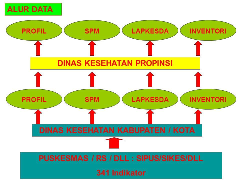 PUSKESMAS / RS / DLL : SIPUS/SIKES/DLL 341 Indikator