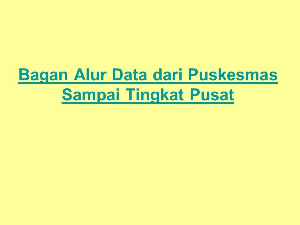 Bagan Alur Data dari Puskesmas Sampai Tingkat Pusat