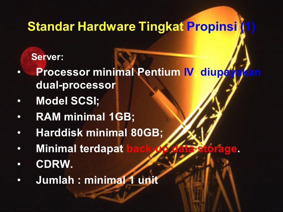 Standar Hardware Tingkat Propinsi (1)