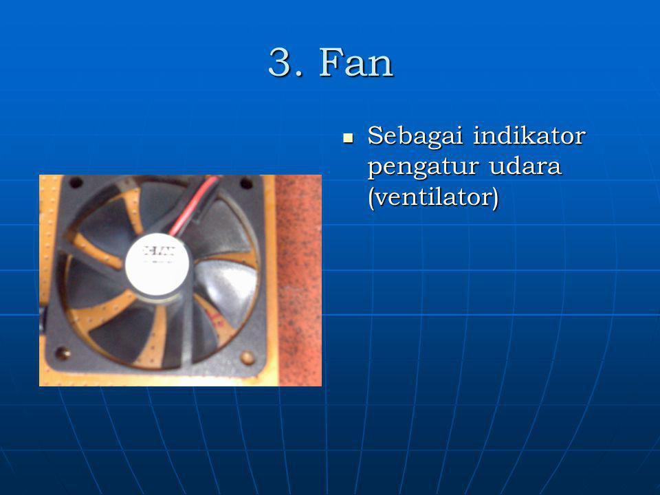 3. Fan Sebagai indikator pengatur udara (ventilator)