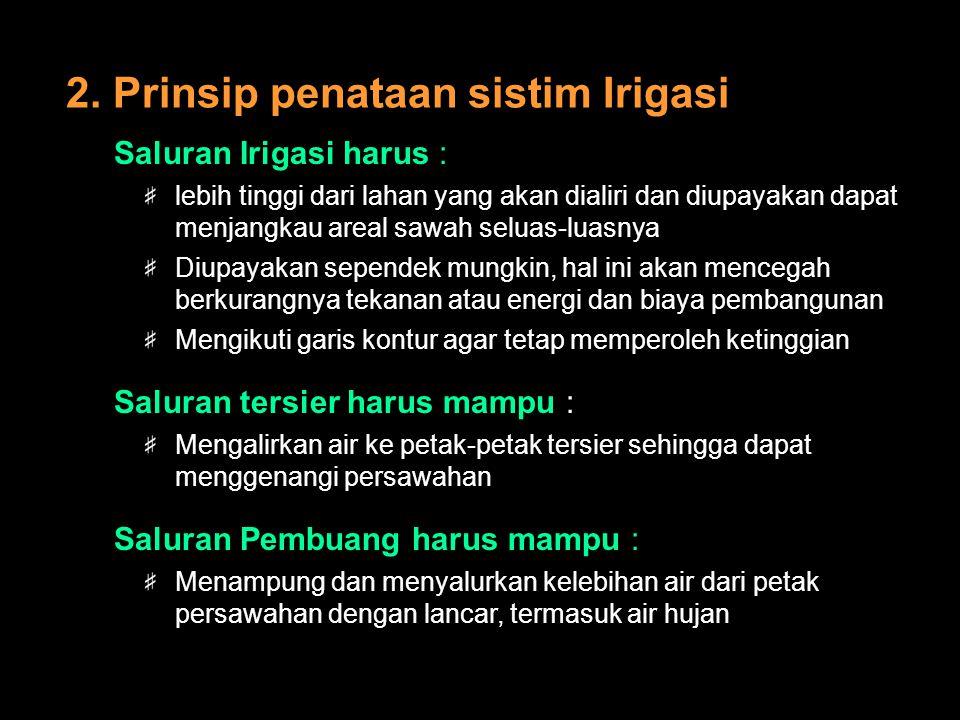 2. Prinsip penataan sistim Irigasi
