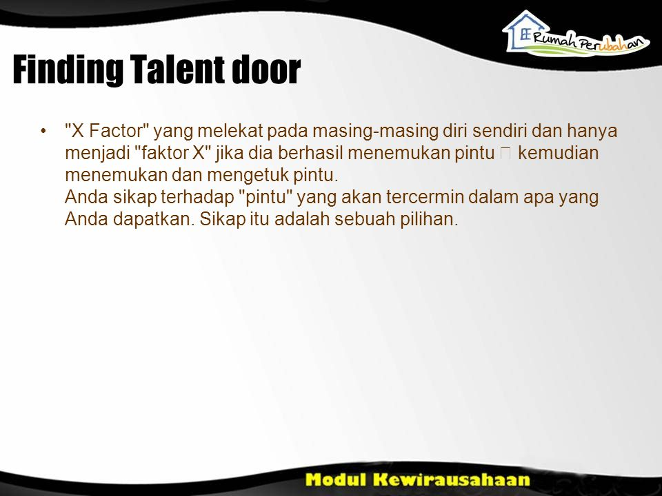 Finding Talent door