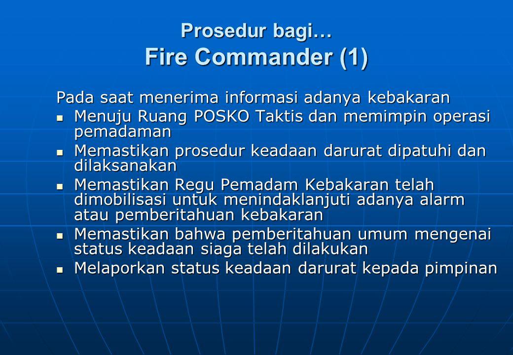 Prosedur bagi… Fire Commander (1)