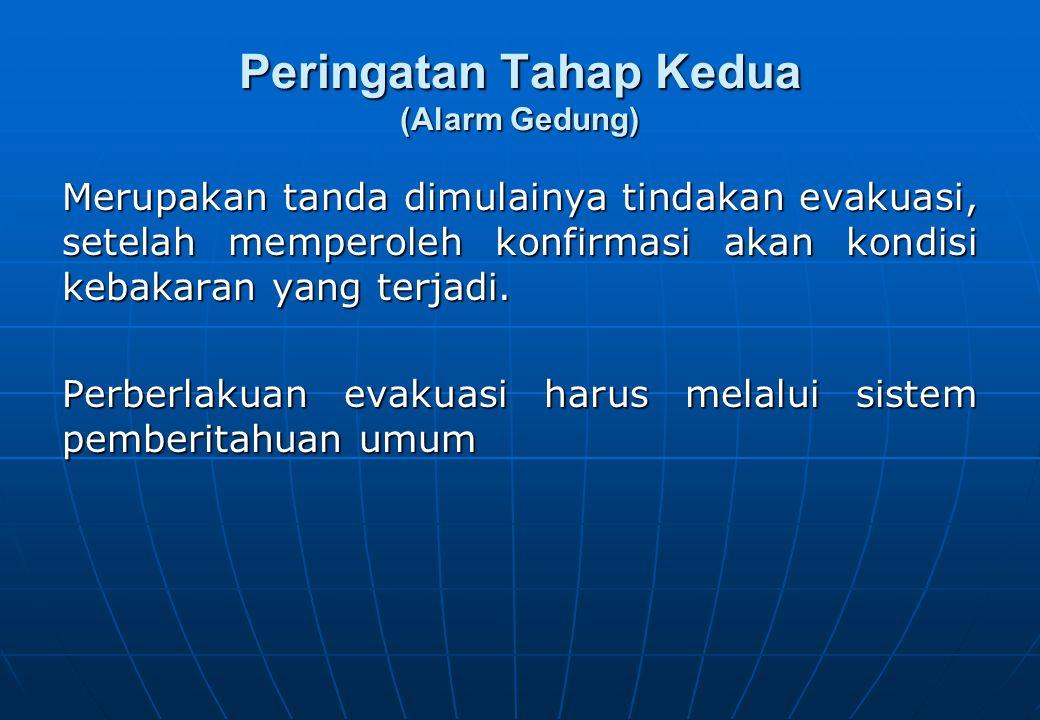 Peringatan Tahap Kedua (Alarm Gedung)