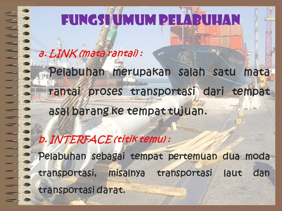 FUNGSI UMUM PELABUHAN a. LINK (mata rantai) :
