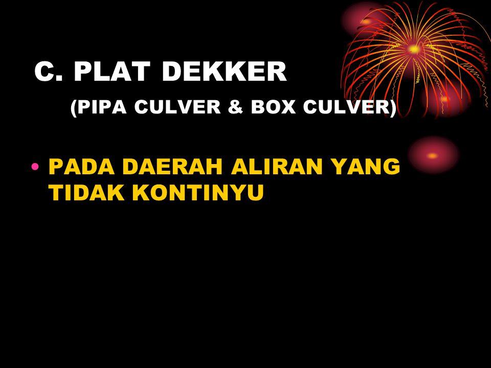 C. PLAT DEKKER (PIPA CULVER & BOX CULVER)