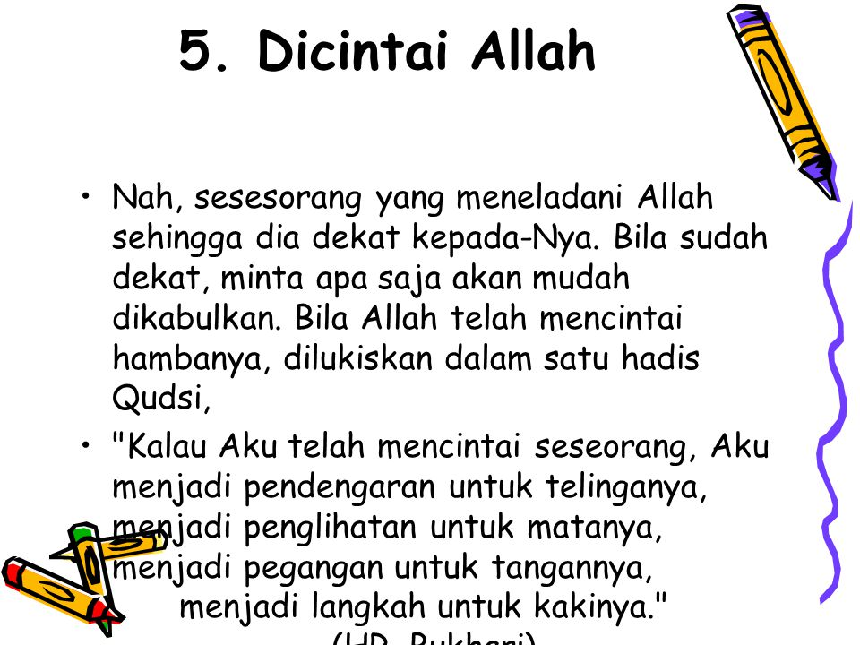 5. Dicintai Allah