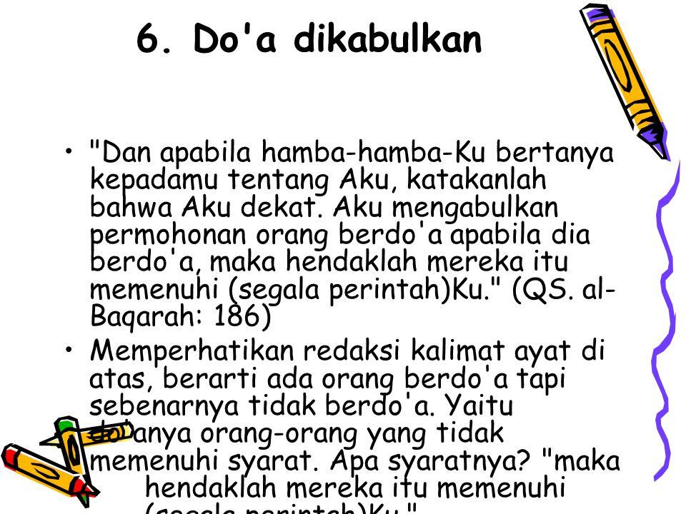 6. Do a dikabulkan