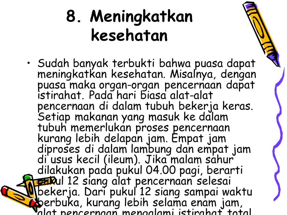 8. Meningkatkan kesehatan