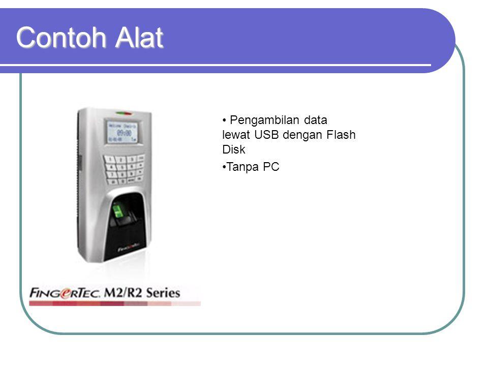 Contoh Alat Pengambilan data lewat USB dengan Flash Disk Tanpa PC