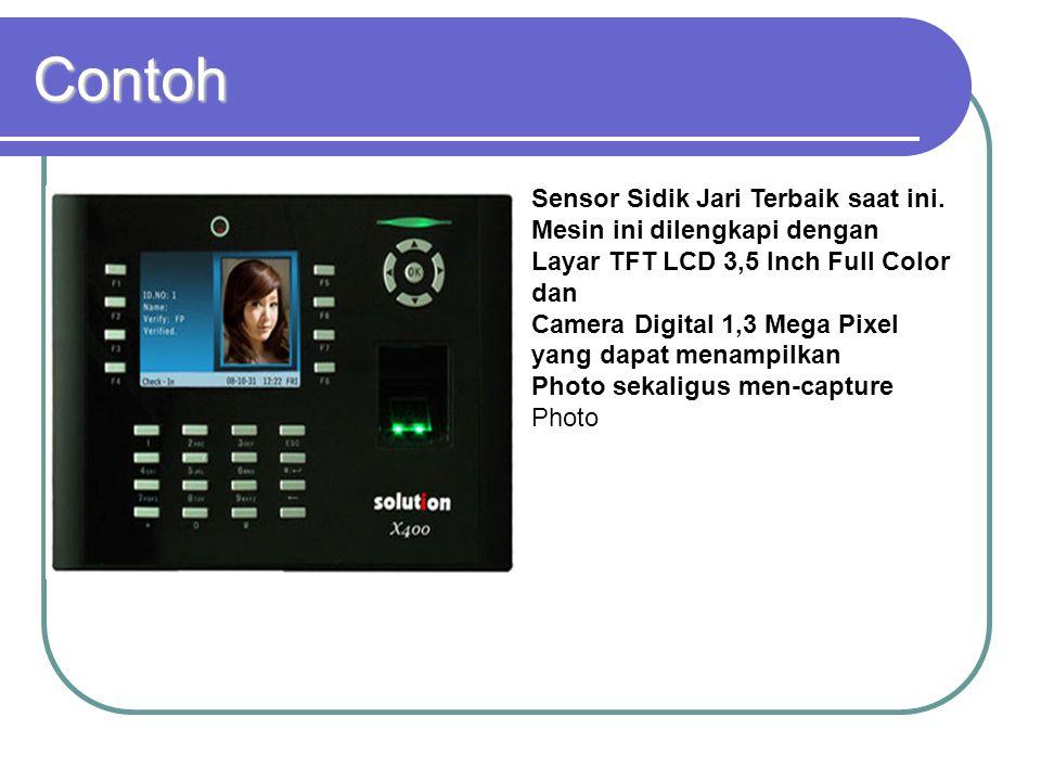 Contoh Sensor Sidik Jari Terbaik saat ini. Mesin ini dilengkapi dengan Layar TFT LCD 3,5 Inch Full Color dan.