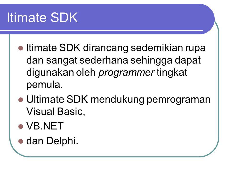 ltimate SDK ltimate SDK dirancang sedemikian rupa dan sangat sederhana sehingga dapat digunakan oleh programmer tingkat pemula.