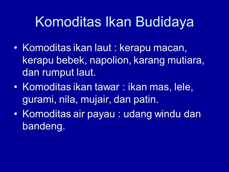 Komoditas Ikan Budidaya