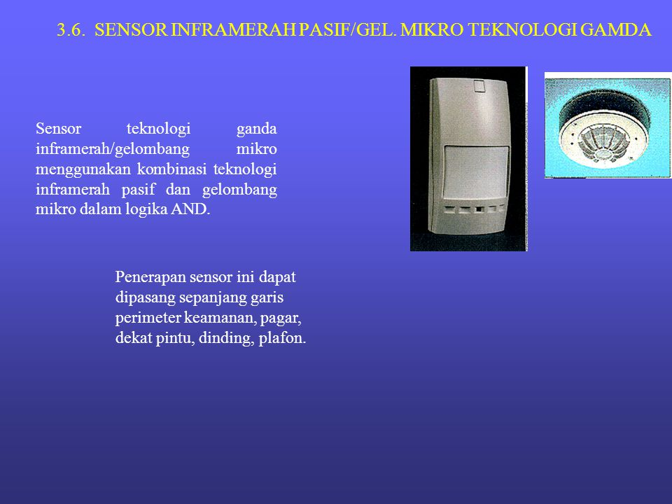 3.6. SENSOR INFRAMERAH PASIF/GEL. MIKRO TEKNOLOGI GAMDA