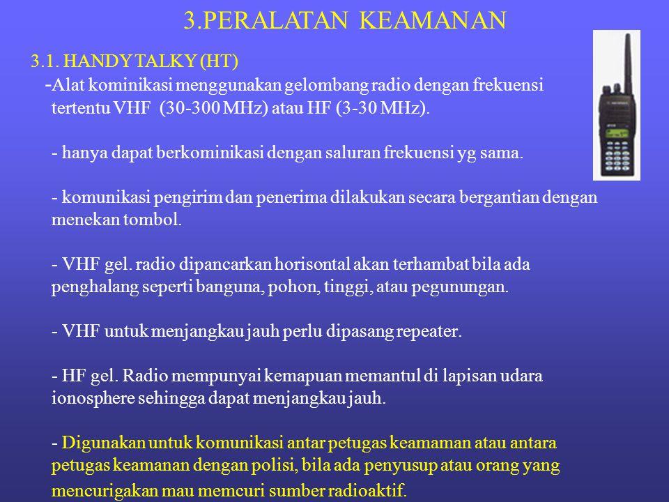3.PERALATAN KEAMANAN 3.1. HANDY TALKY (HT)