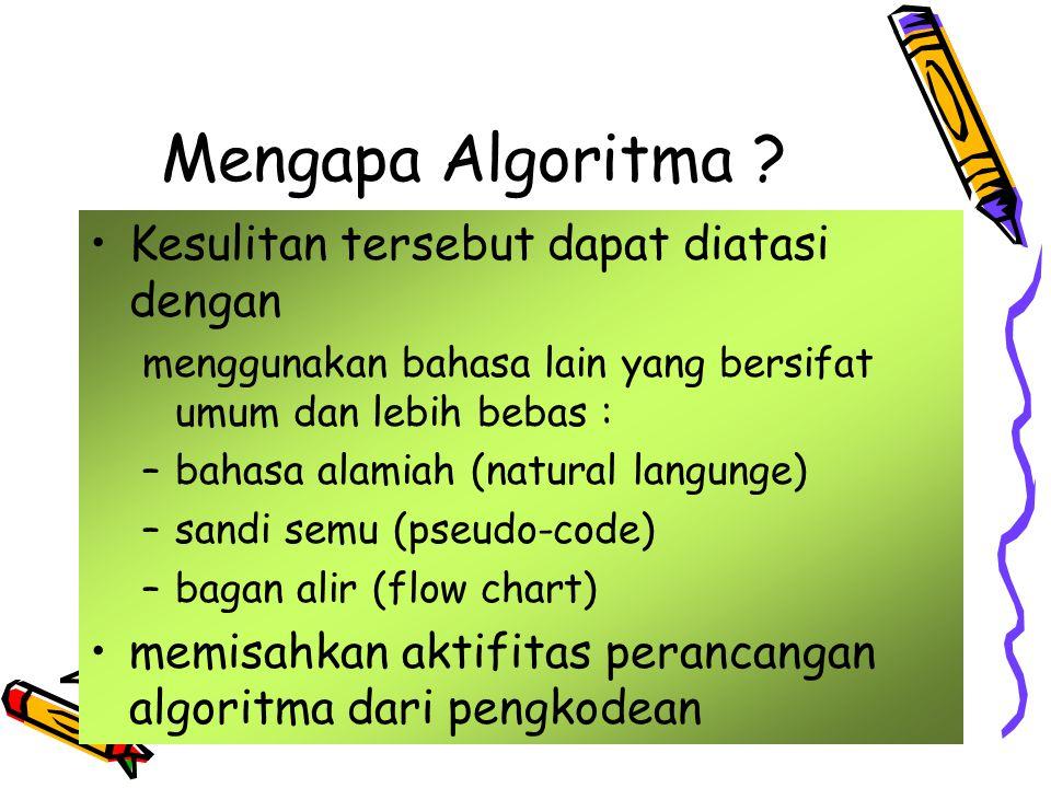 Mengapa Algoritma Kesulitan tersebut dapat diatasi dengan