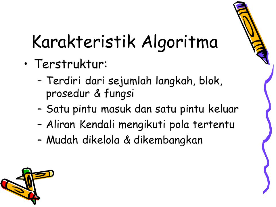 Karakteristik Algoritma