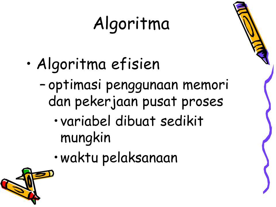 Algoritma Algoritma efisien