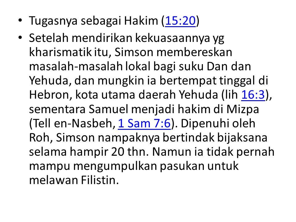 Tugasnya sebagai Hakim (15:20)
