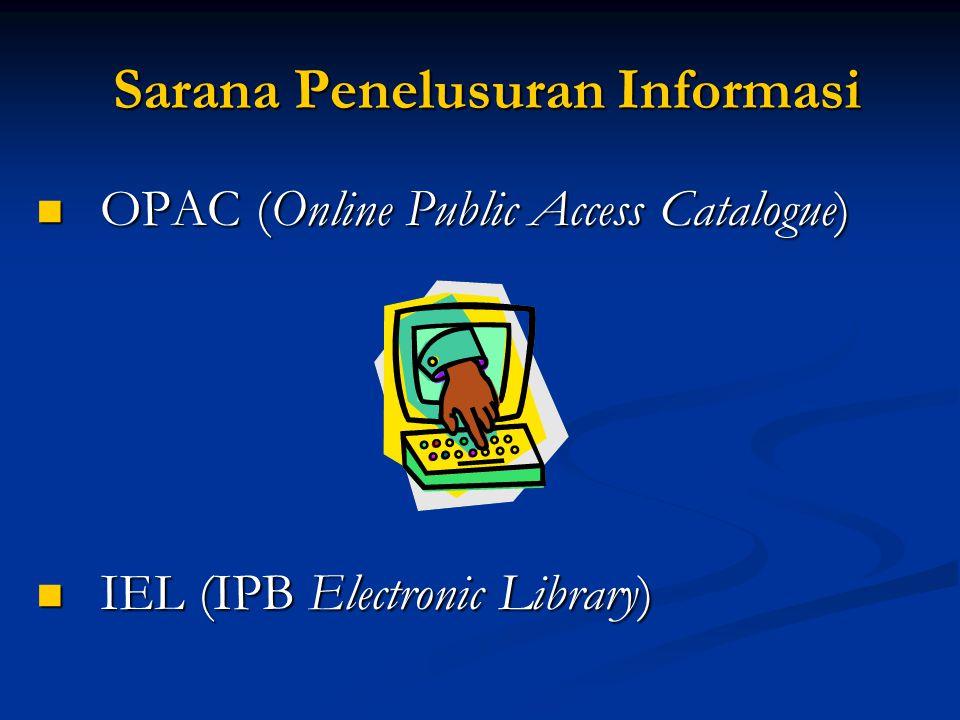 Sarana Penelusuran Informasi