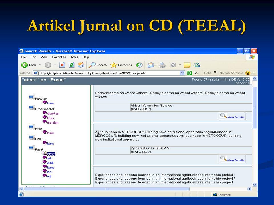Artikel Jurnal on CD (TEEAL)
