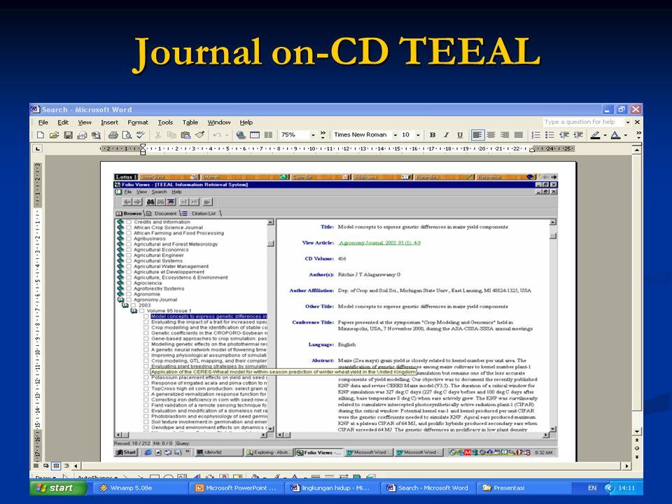 Journal on-CD TEEAL