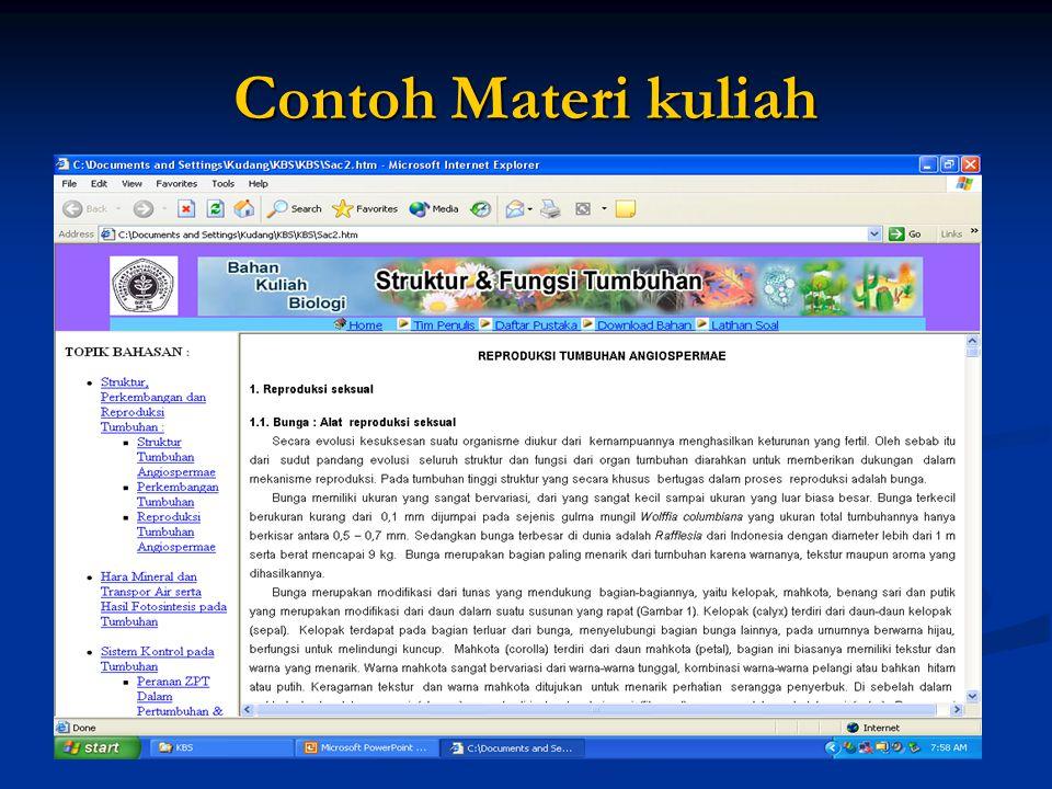 Contoh Materi kuliah