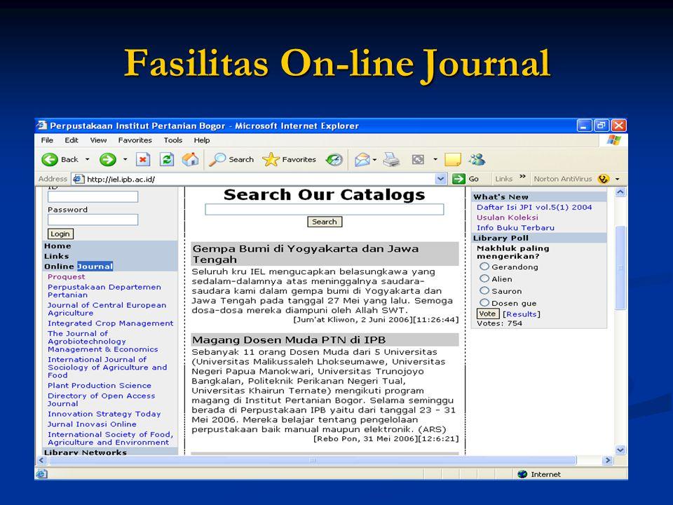 Fasilitas On-line Journal