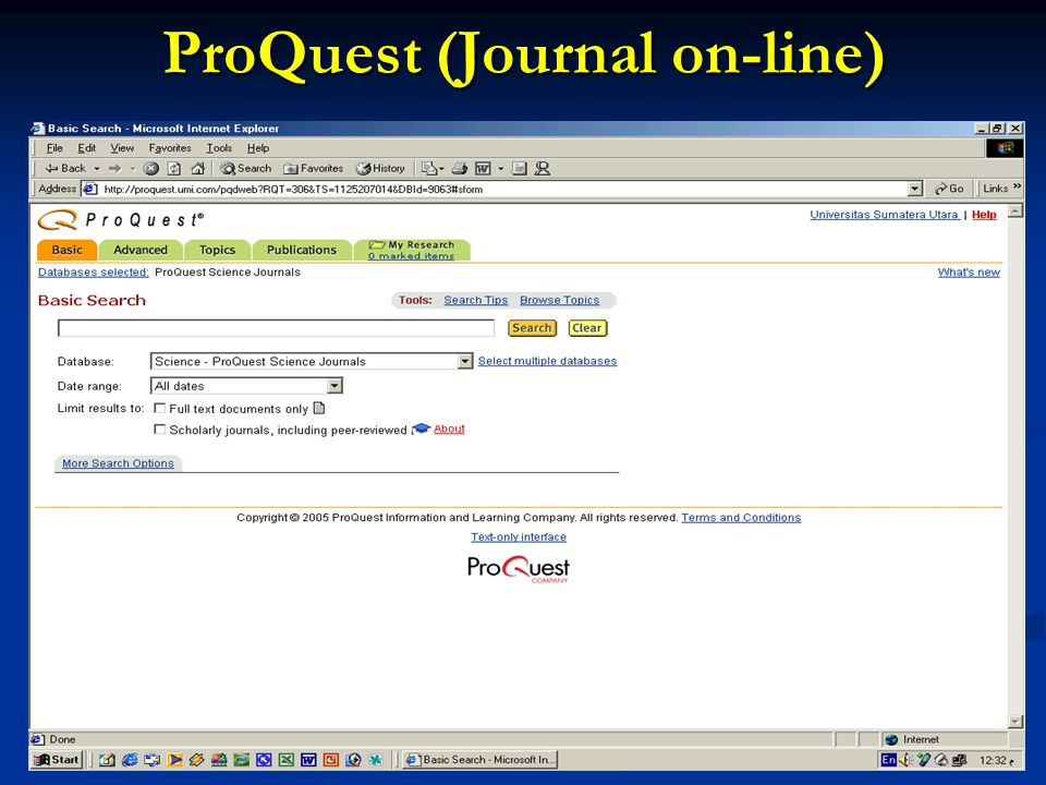 ProQuest (Journal on-line)