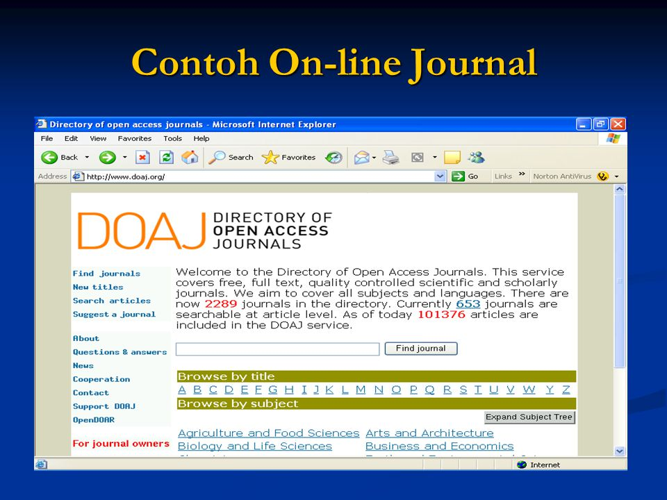 Contoh On-line Journal