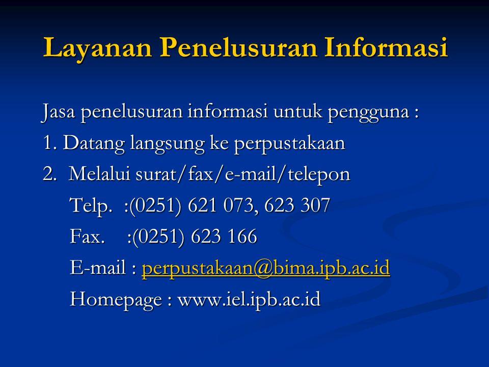 Layanan Penelusuran Informasi