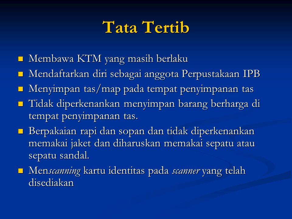 Tata Tertib Membawa KTM yang masih berlaku