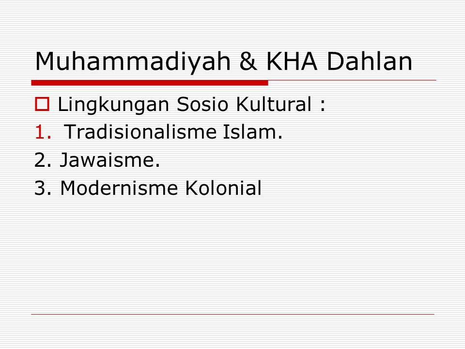 Muhammadiyah & KHA Dahlan