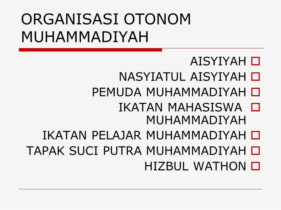 ORGANISASI OTONOM MUHAMMADIYAH